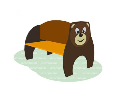 Скамья детская с рисунком «Медведь» Romana 302.10.00, фото 1