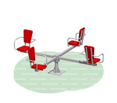 Карусель с сидениями Romana 108.26.00 красно/серая, фото 1