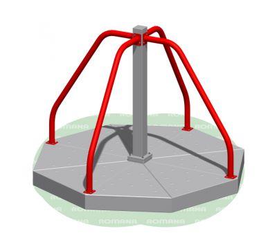 Карусель с вращающейся платформой Romana 108.27.00 серо/красная, фото 1