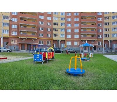 Карусель с вращающейся платформой Romana 108.27.00 сине/желтая, фото 4