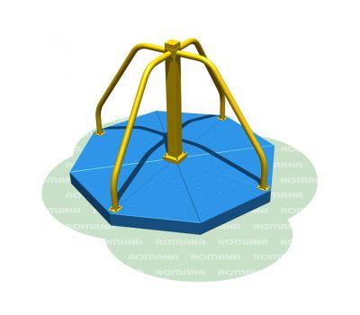 Карусель с вращающейся платформой Romana 108.27.00 сине/желтая, фото 1