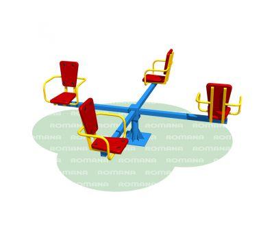 Карусель с сидениями Romana 108.26.00 сине/красная, фото 1