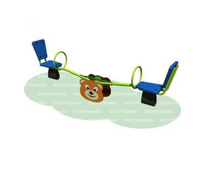 Качалка «Мишка» Romana 108.01.02 синяя, фото 1