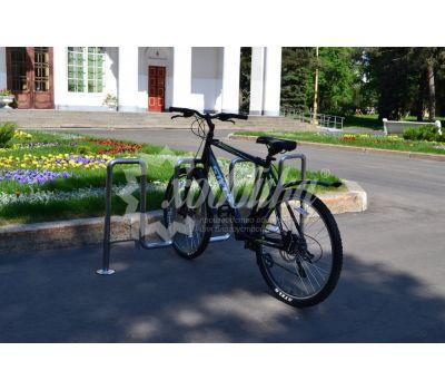 Велопарковка «Квадро» из нержавеющей стали, фото 3