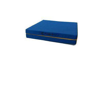 "Мат № 8 (100 х 200 х 10) складной 1 сложение ""PERFETTO SPORT"" сине/жёлтый, фото 2"