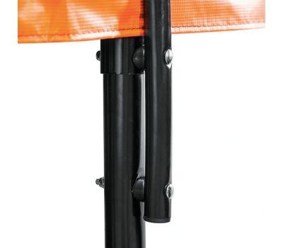 DFC KENGOO Fitness Батут 8ft футов (244 см) внутр.сетка, лестница, оранж/черн, фото 2