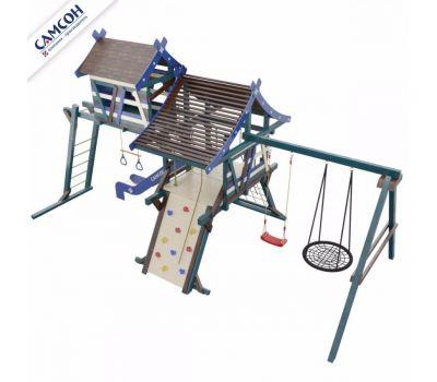 Детская деревянная игровая площадка ХИЖИНА САНТОРИНИ Самсон, фото 2