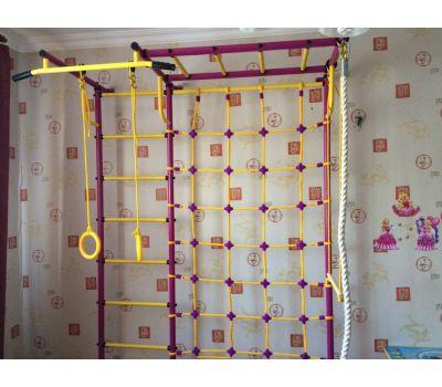 Детская шведская стенка Пионер С4СМ пурпурно/жёлтый, фото 3