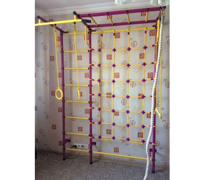 Детская шведская стенка Пионер С4СМ пурпурно/жёлтый, фото 4