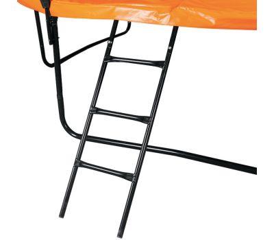 DFC KENGOO Fitness Батут 8ft футов (244 см) внутр.сетка, лестница, оранж/черн, фото 6