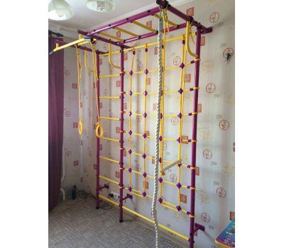 Детская шведская стенка Пионер С4СМ пурпурно/жёлтый, фото 5