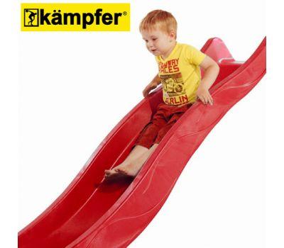 Пластиковая горка Kampfer высота 1,5м длина 3м (красный), фото 5