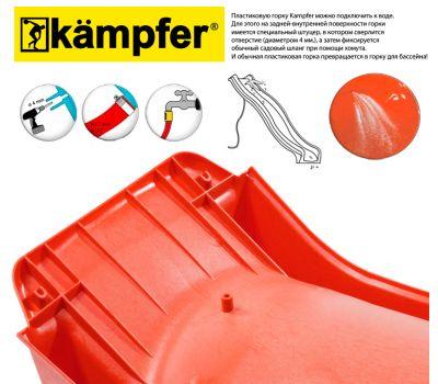 Пластиковая горка Kampfer высота 1,5м длина 3м (красный), фото 4
