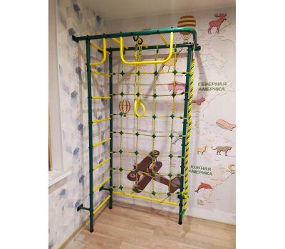 Детская шведская стенка Пионер 8 зелено/жёлтый, фото 4