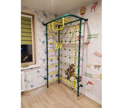 Детская шведская стенка Пионер 8 зелено/жёлтый, фото 3