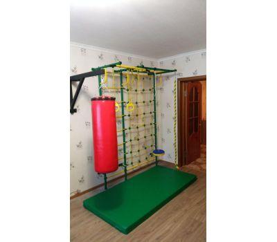 Детская шведская стенка Пионер С4СМ зелёно/жёлтый, фото 9