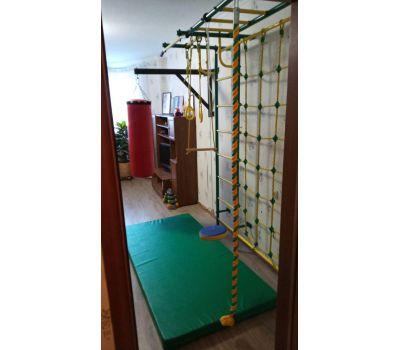 Детская шведская стенка Пионер С4СМ зелёно/жёлтый, фото 8
