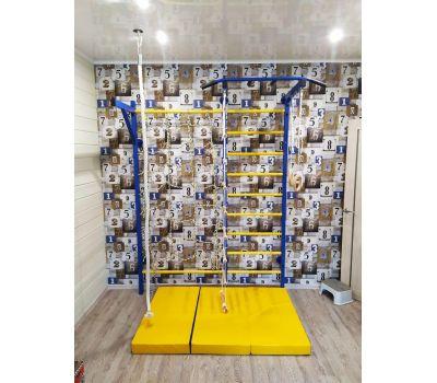 Домашний спортивный комплекс Семейный S1, с сетью для лазания, турником и кронштейном под грушу., фото 6