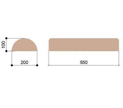 Массажный валик полукруглый 20 см Heliox D20s, фото 2