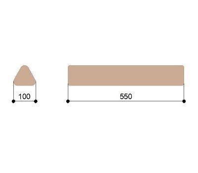 Массажный валик треугольный малый Heliox T10, фото 2