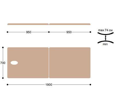 Складной металлический массажный стол М190, фото 4