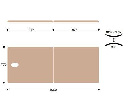 Складной металлический массажный стол М195, фото 4