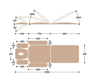 Массажный стол с электроприводом Heliox F1E3К, фото 7