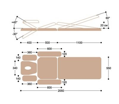 Массажный стол Heliox F2E33, фото 6