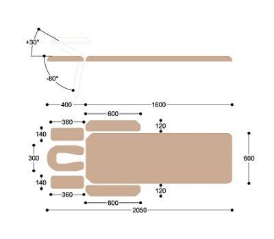 Массажный стол c электроприводом Heliox X102, фото 5