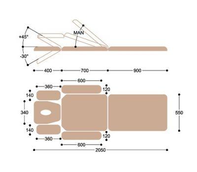 Массажный стол Heliox FM3c, фото 6