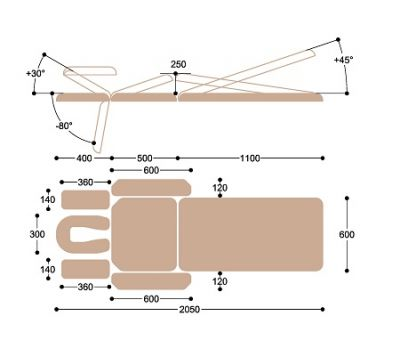 Массажный стол c двумя электроприводами Heliox X203, фото 5