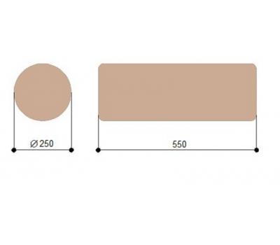 Массажный валик круглый 25 см Heliox D25, фото 2