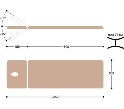 Массажная кушетка смотровая Heliox КМ03, фото 5