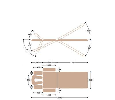 Массажный стол Heliox Medicus, фото 10