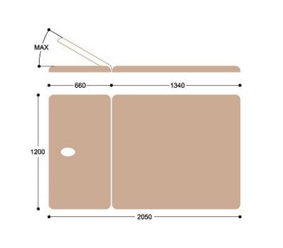 Широкий массажный стол Титулус 2 секции - Стол Войта-Бобата Heliox XV2, фото 6
