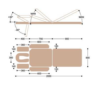 Массажный стол c электроприводом Heliox X103K, фото 7