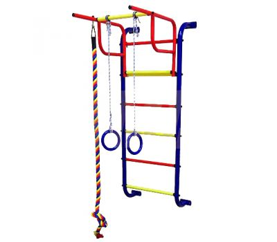 Детский спортивный комплекс Пионер 7 сине/жёлтый, фото 1