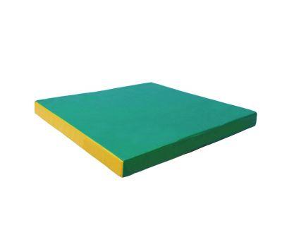 Мат № 2 (100 х 100 х 10) зелёно/жёлтый