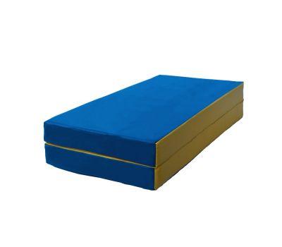 Мат № 3 (100 х 100 х 10) складной сине/жёлтый