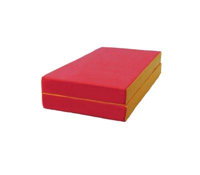 Мат № 3 (100 х 100 х 10) складной красно/жёлтый