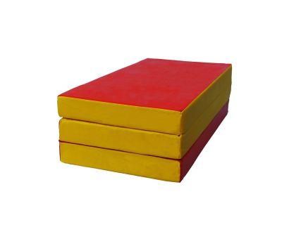 Мат № 4 (100 х 150 х 10) складной красно/жёлтый