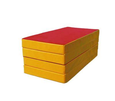 Мат № 5 (100 х 200 х 10) складной 3 сложения красно/жёлтый