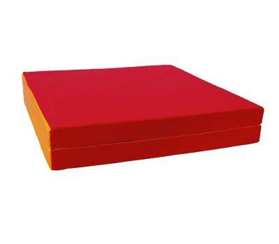 Мат № 8 (100 х 200 х 10) складной 1 сложение красно/жёлтый