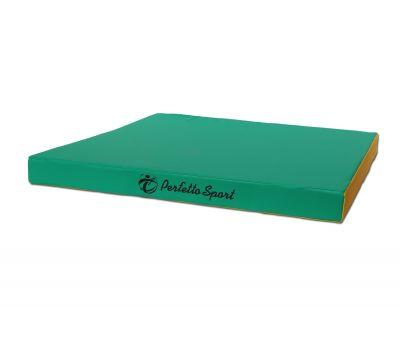 Мат № 2 (100 х 100 х 10) PERFETTO SPORT зелёно/жёлтый