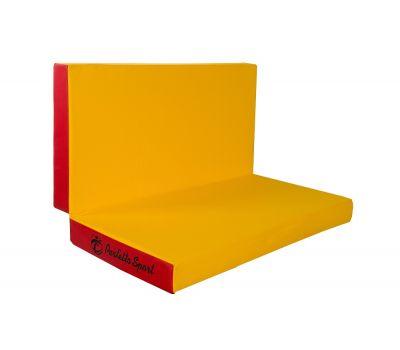 Мат № 3 (100 х 100 х 10) складной PERFETTO SPORT красно/жёлтый, фото 2