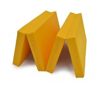 Мат № 5 (100 х 200 х 10) складной 3 сложения жёлтый