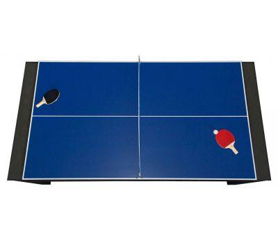 Cтол-трансформер Twister 3 в 1 (3 игры: бильярд, аэрохоккей, настольный теннис; 217 х 107,5 х 81 см; черный), фото 13