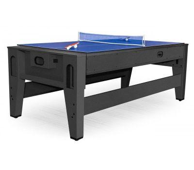 Cтол-трансформер Twister 3 в 1 (3 игры: бильярд, аэрохоккей, настольный теннис; 217 х 107,5 х 81 см; черный), фото 11