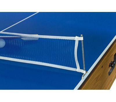 Cтол-трансформер Twister 3 в 1 (3 игры: бильярд, аэрохоккей, настольный теннис; 217 х 107,5 х 81 см; дуб), фото 13