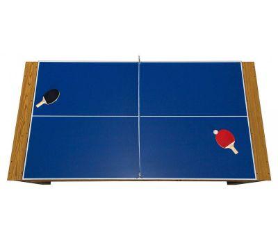 Cтол-трансформер Twister 3 в 1 (3 игры: бильярд, аэрохоккей, настольный теннис; 217 х 107,5 х 81 см; дуб), фото 14